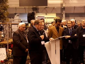 Daniel Hans s'exprimant devant le bureau de l'Union, et François Gérardin, président de la Région